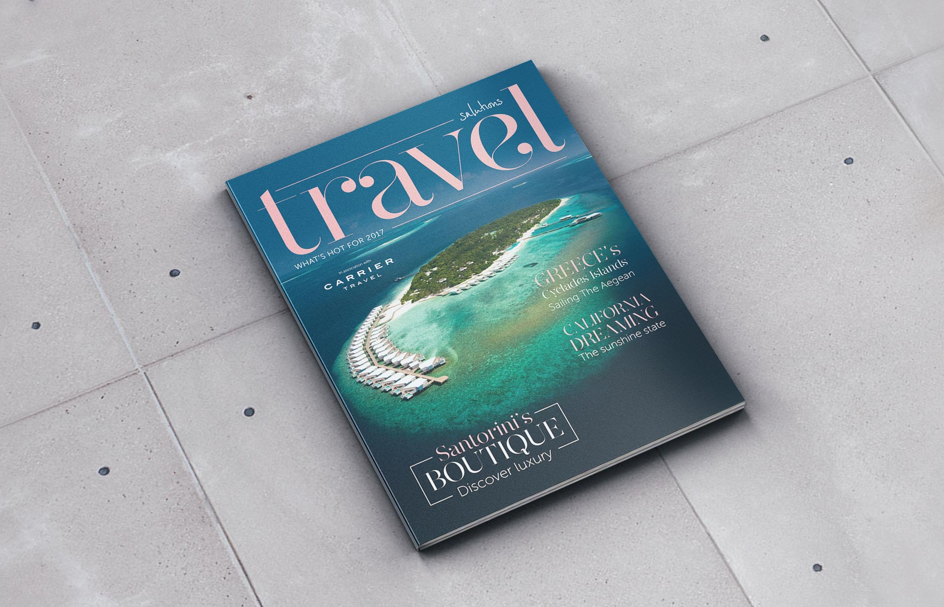 Glossy Travel Magazine Cover designed by Twistedgifted.