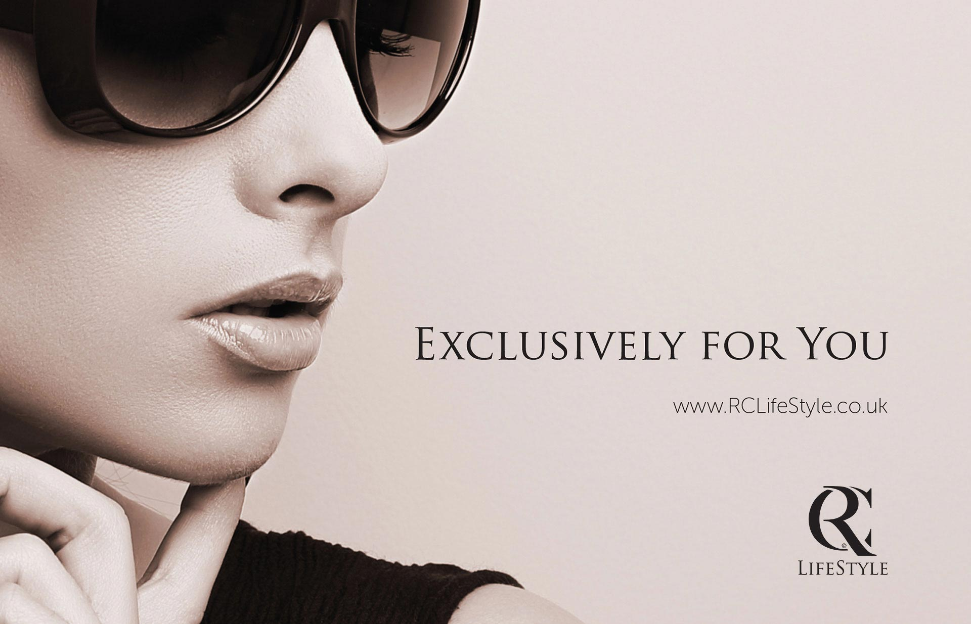 RC Life Style logo and brand concept. Luxury brand and lifestyle image of girl. Creative courtesy of Twistedgifted.